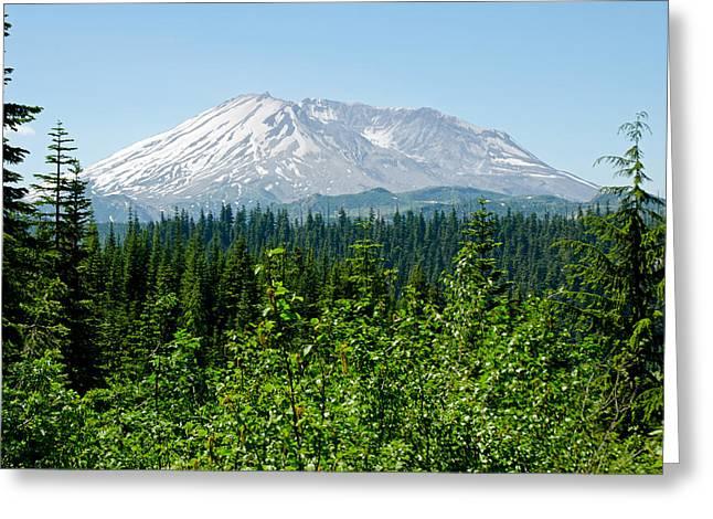 Mt. St. Hellens Greeting Card by Tikvah's Hope