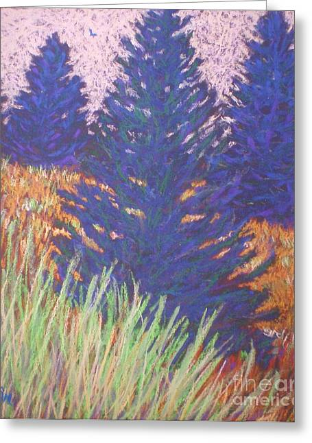 Mt. Tabor Trees Greeting Card by Suzanne McKay