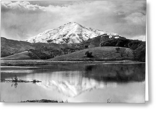 Mt. Tamalpais In Snow Greeting Card by Underwood Archives