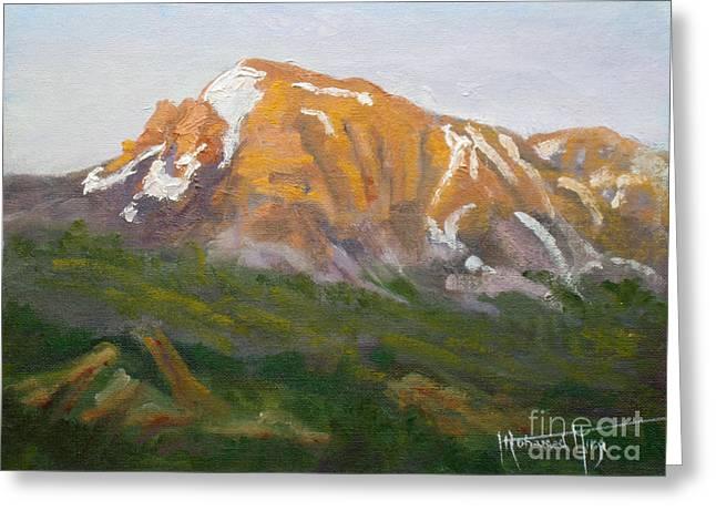 Mt. Tekarra Greeting Card by Mohamed Hirji