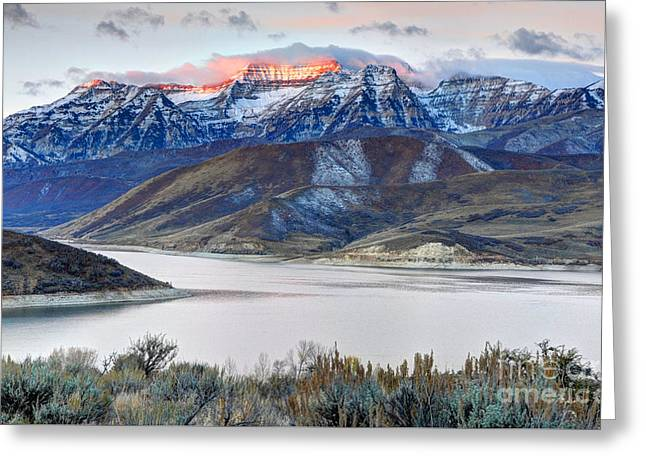 Mt. Timpanogos Winter Sunrise Greeting Card