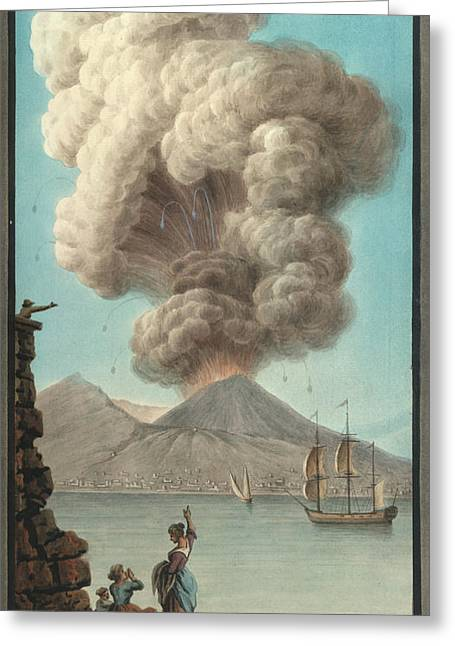 Mt. Vesuvius' Morning Eruption Greeting Card