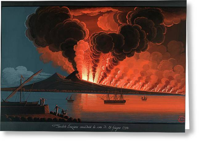 Mt. Vesuvius' Terrible Eruption Greeting Card