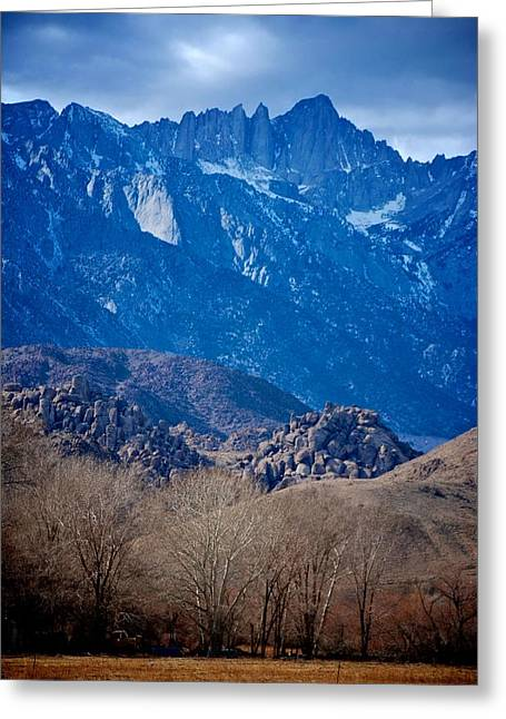 Mt. Whitney And Alabama Hills Greeting Card by Eric Tressler