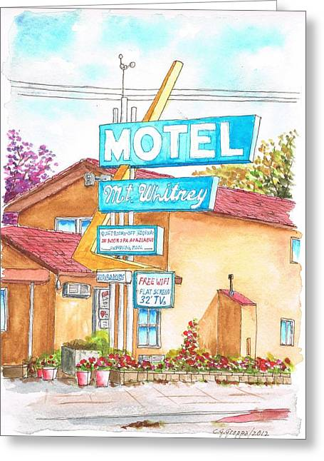 Mt Whitney Motel In Lone Pine - California Greeting Card
