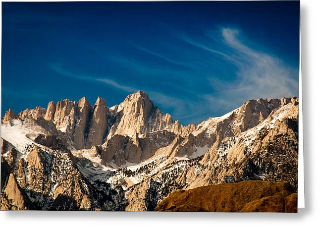Mt Whitney On A Winter Day Greeting Card by Janis Knight