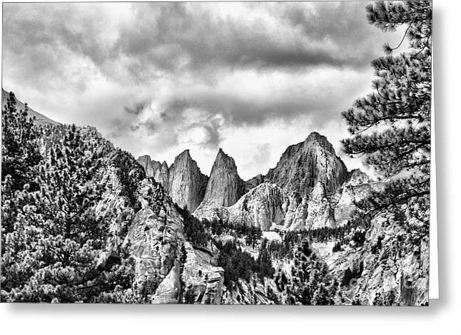 Mt. Whitney Greeting Card by Peggy Hughes