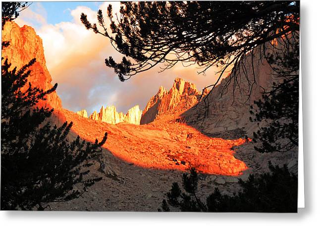 Greeting Card featuring the photograph Mt. Whitney Sunrise by Alan Socolik