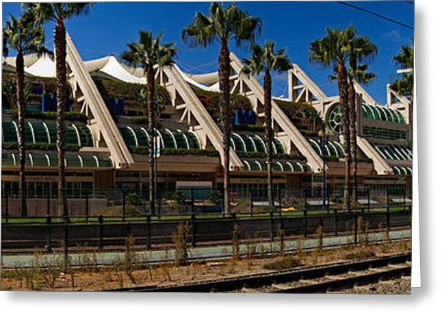 Mts Commuter Train Moving On Tracks Greeting Card by Panoramic Images