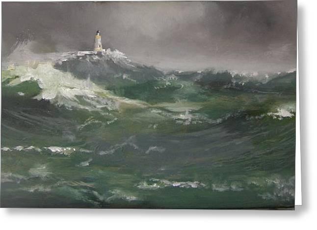Muckle Flugga Lighthouse Shetland Greeting Card