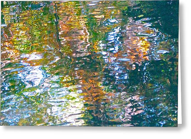 Mud Creek Reflection Greeting Card