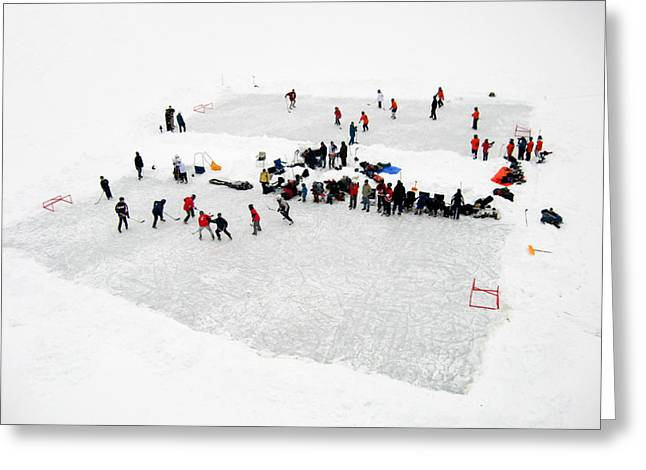 Mud Lake Hockey Tournament Greeting Card by Rob Huntley