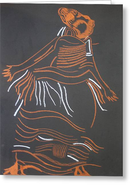 Muganda Lady - Uganda Greeting Card by Gloria Ssali