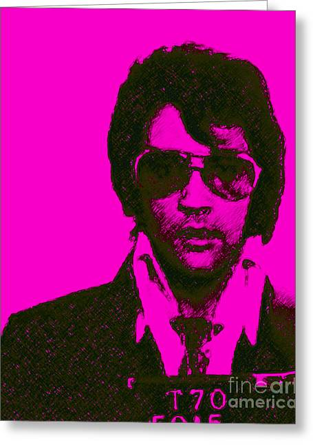 Mugshot Elvis Presley M80 Greeting Card