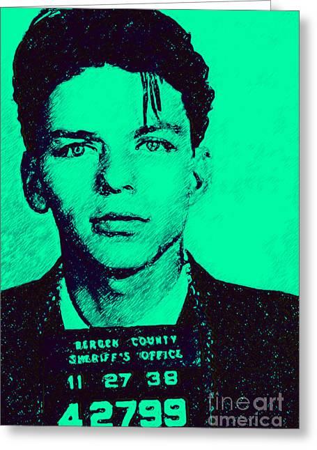 Mugshot Frank Sinatra V1m128 Greeting Card