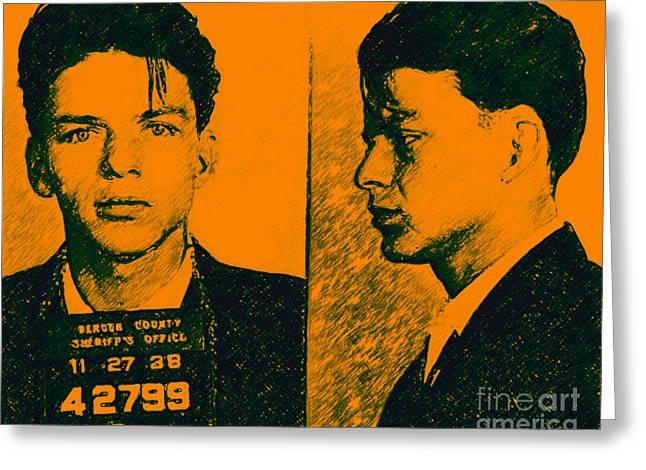 Mugshot Frank Sinatra V2p0 Greeting Card
