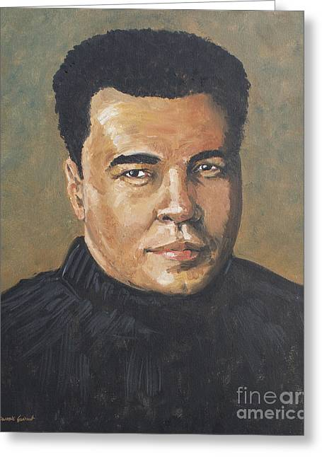 Greeting Card featuring the painting Muhammad Ali/the Greatest by Dwayne Glapion