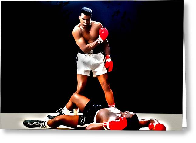 Muhammad Ali Get Up And Fight Sucker Greeting Card