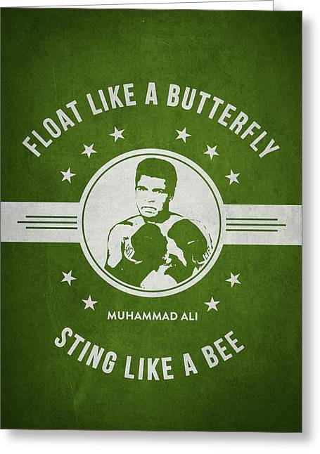 Muhammad Ali - Green Greeting Card