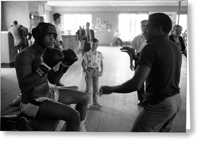 Muhammad Ali Guards Up Greeting Card by Retro Images Archive