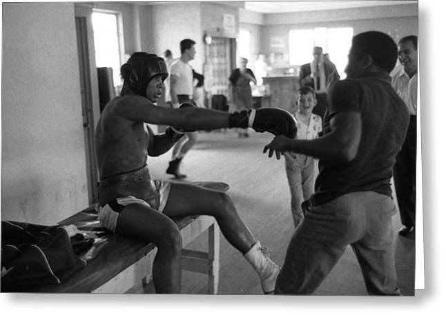 Muhammad Ali Playing Around Greeting Card by Retro Images Archive