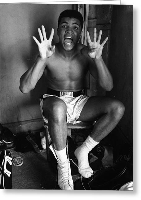 Muhammad Ali Showing Off  Greeting Card