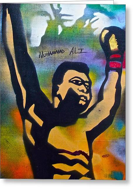 Muhammad Ali Greeting Card by Tony B Conscious