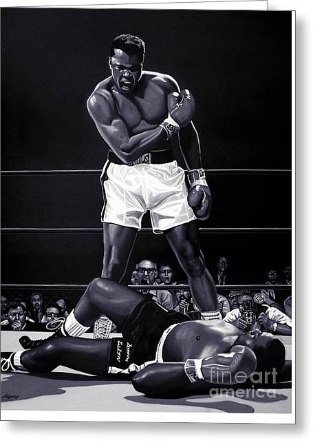 Muhammad Ali Versus Sonny Liston Greeting Card