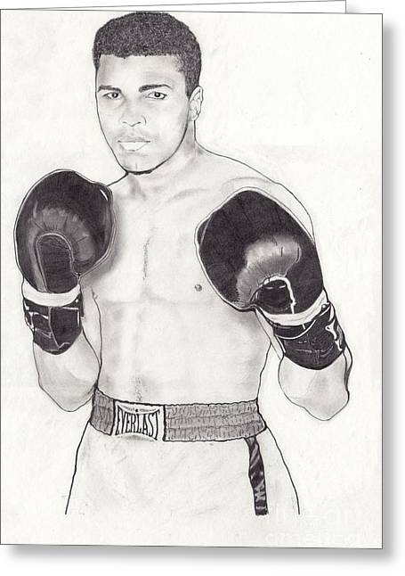 Muhammad Ali Greeting Card by Vincent Turner