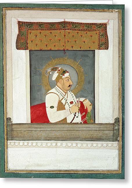 Muhammad Shah At A Window Greeting Card