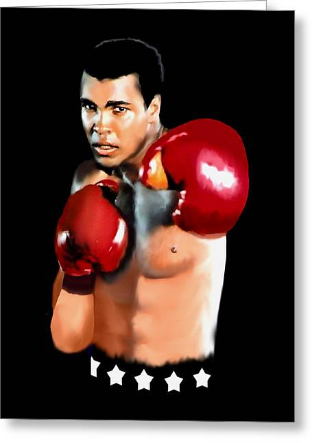 Muhammed Ali Greeting Card by Jann Paxton