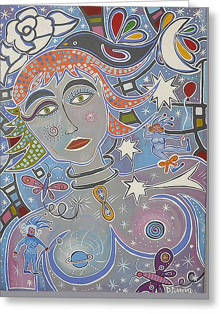 Mujer Astral Greeting Card