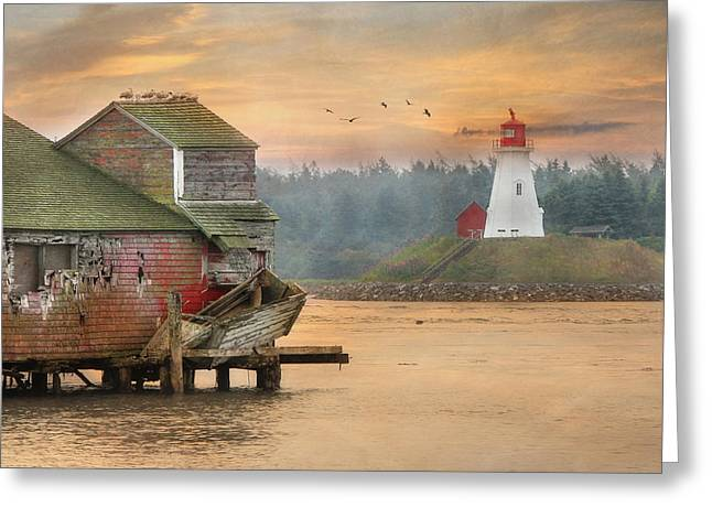 Mulholland Point Lighthouse Greeting Card by Lori Deiter