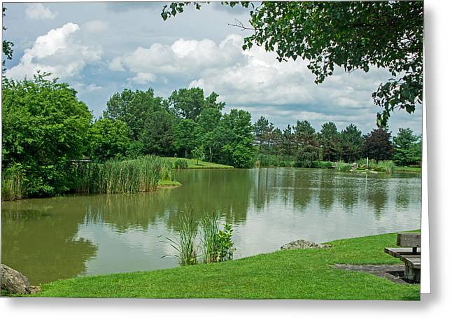 Muller Chapel Pond Ithaca College Greeting Card