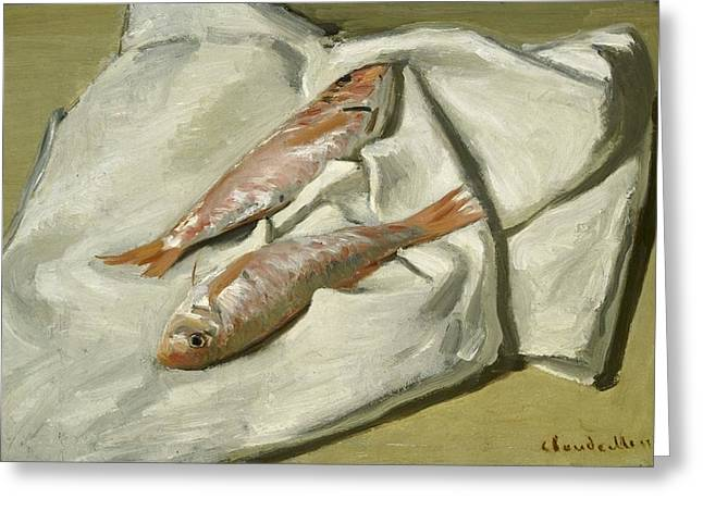 Mullets Greeting Card by Claude Monet