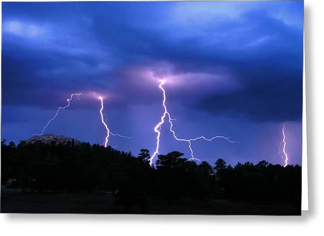 Multi Arc Lightning Strike Greeting Card