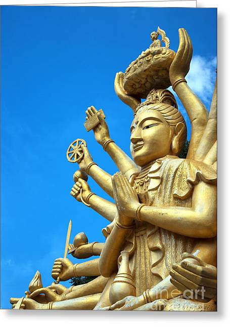 Multi Armed Buddha 01 Greeting Card by Antony McAulay