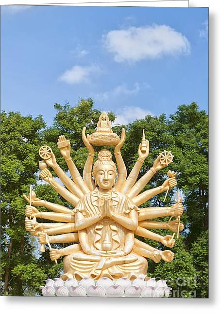 Multi Armed Buddha 04 Greeting Card by Antony McAulay