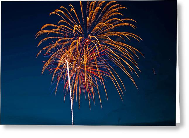 West Virginia Day Fireworks 3 Greeting Card