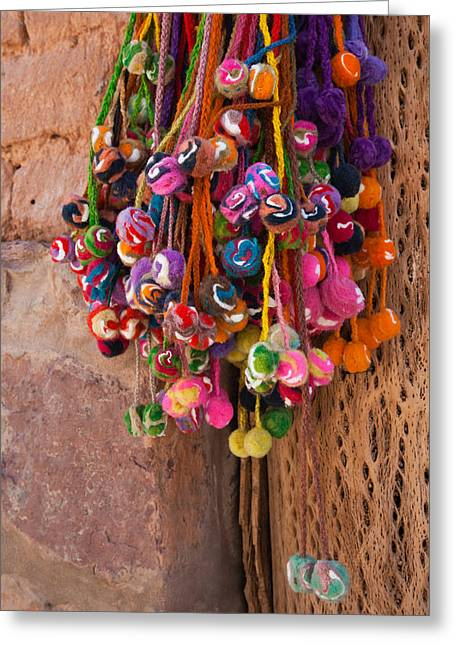 Multi-colored Hangings On Wall, Tulmas Greeting Card