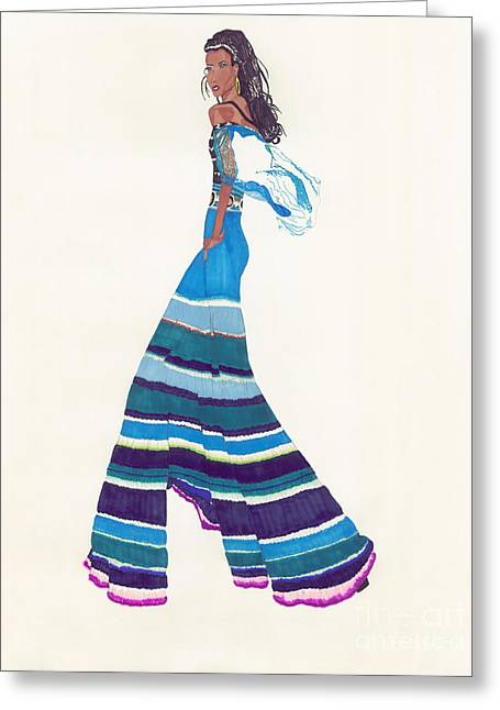 Multi-colored Pants Greeting Card by Asia Johnson