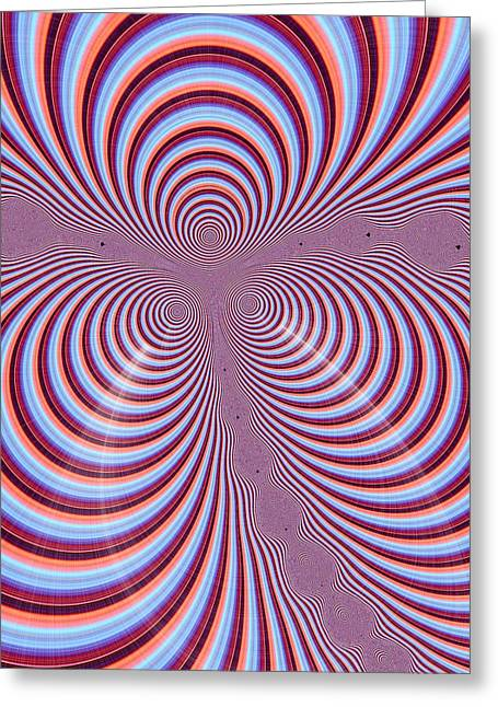 Multi-coloured Abstract Design Greeting Card by Paul Sale Vern Hoffman