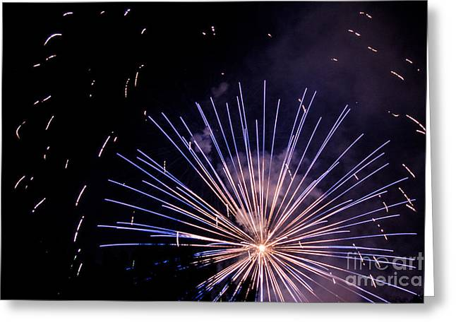 Multicolor Explosion Greeting Card by Suzanne Luft