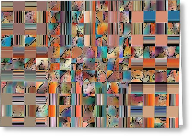 Multicolored Fractured Reality Greeting Card by Ben and Raisa Gertsberg