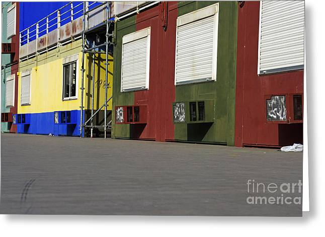 Multicoloured Facades With Air-conditioners Greeting Card by Sami Sarkis