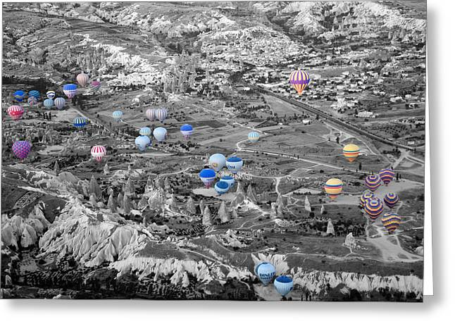 Multiple Balloons Greeting Card by Ernesto Cinquepalmi
