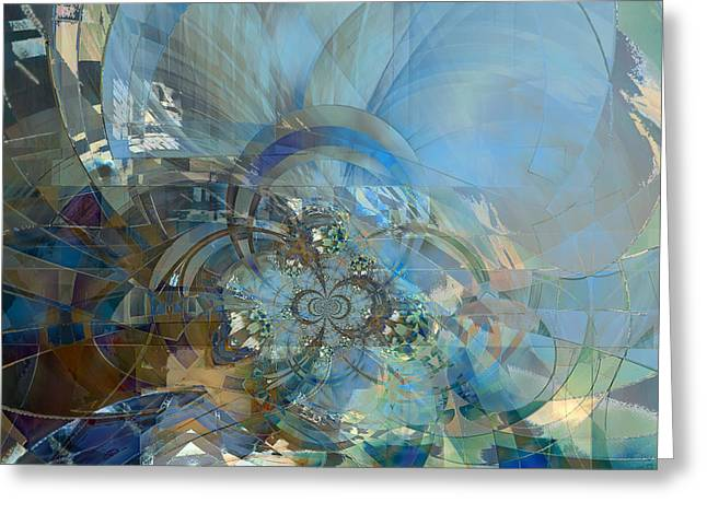 Multiple Dimensions Greeting Card by Ursula Freer