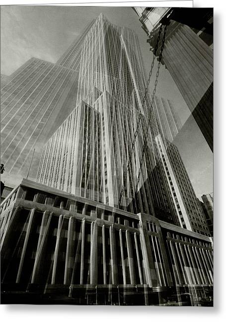 Multiple Exposure Of The Empire State Building Greeting Card by Edward Steichen