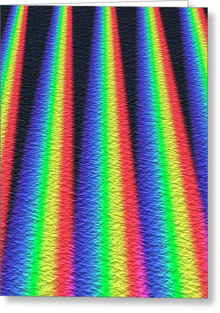 Multiple Spectra Greeting Card by David Parker