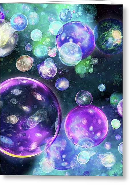 Multiverse Greeting Card by Harald Ritsch